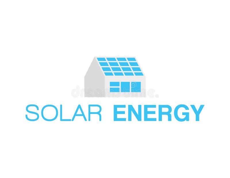 Zonne-energieembleem stock illustratie