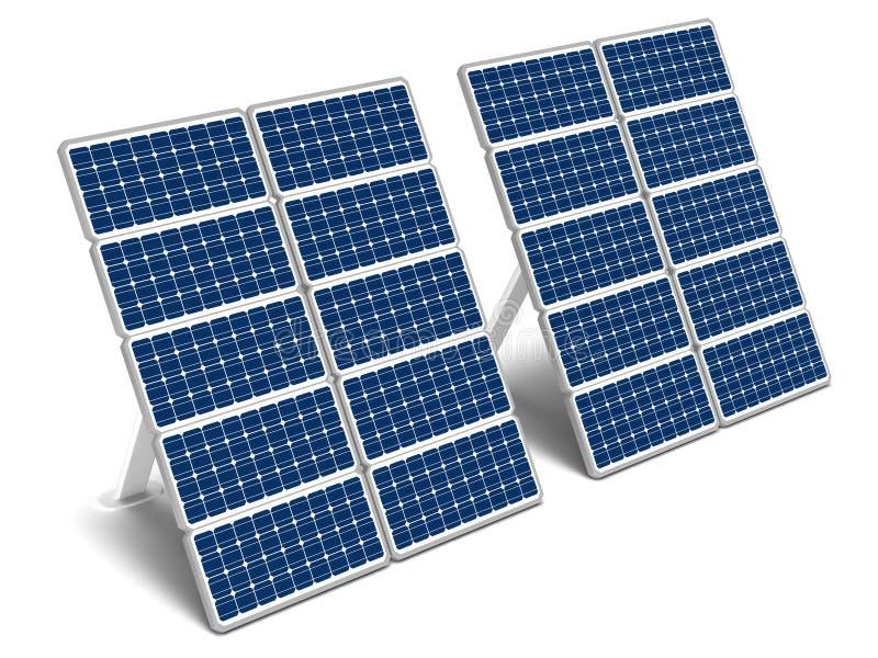 Zonne-energiepanelen vector illustratie