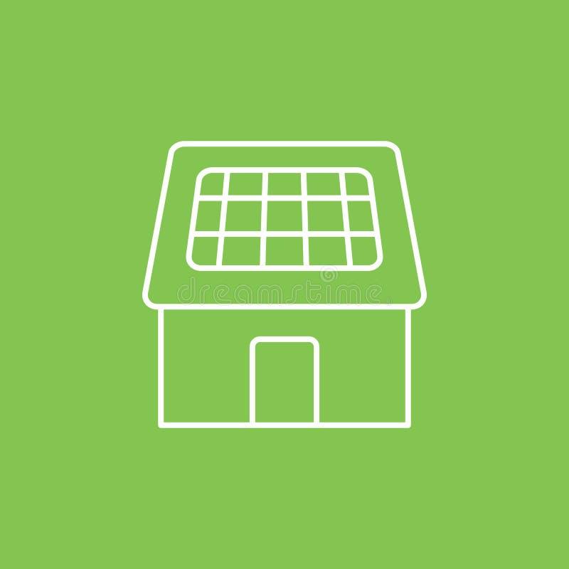 Zonne, huis, laderspictogram - Vector Eenvoudige elementenillustratie van UI-concept Zonne, huis, laderspictogram - Vector Infogr stock illustratie