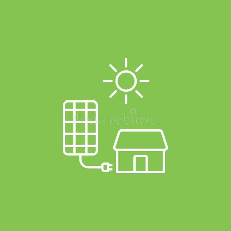 Zonne, lader, huispictogram - Vector Eenvoudige elementenillustratie van UI-concept Zonne, lader, huispictogram - Vector Infograp royalty-vrije illustratie