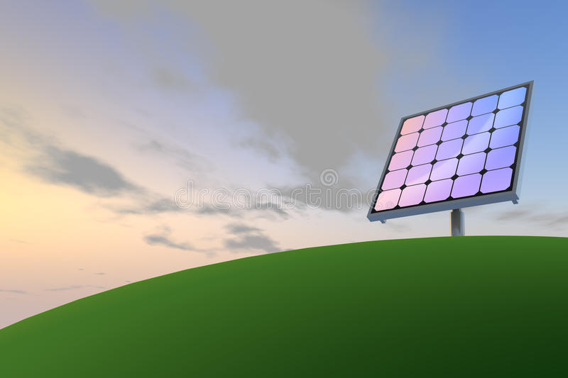 Zonne macht/Zonnepanelen stock illustratie