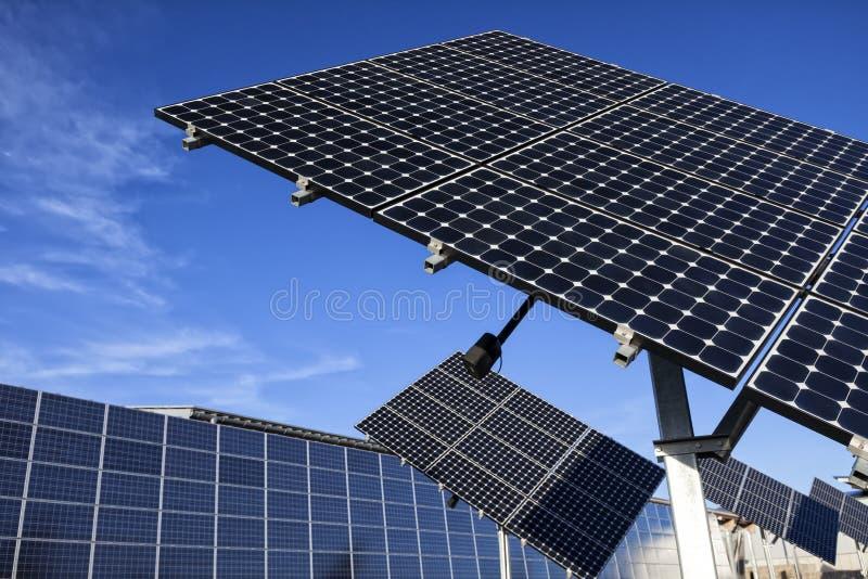 Zonne Photovoltaic Cellen royalty-vrije stock afbeelding