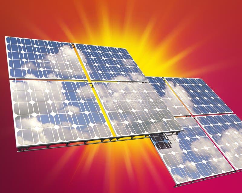 Zonne photovoltaic paneel royalty-vrije stock afbeeldingen