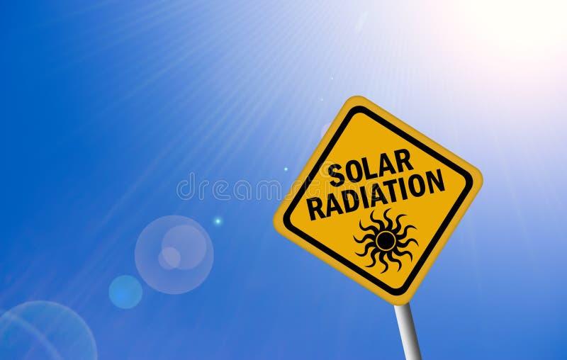Zonne stralingsteken stock illustratie