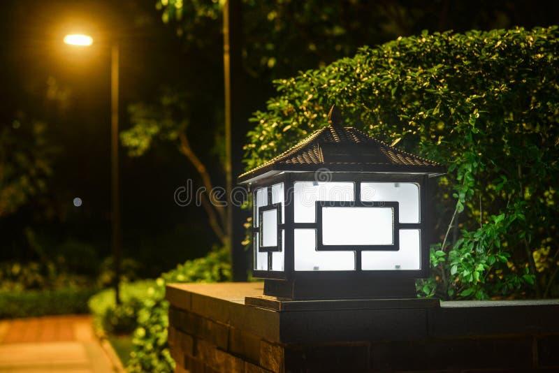 Zonne van de het landschapslamp van de gazon lichte tuin de poollamp stock foto's