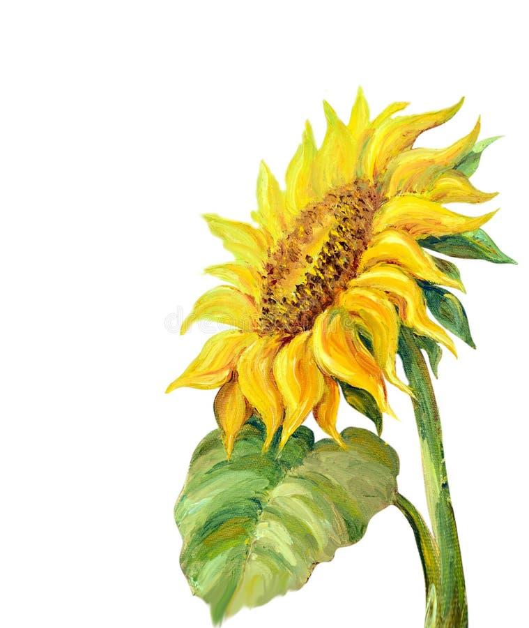 zonnebloem die op white royalty-vrije illustratie