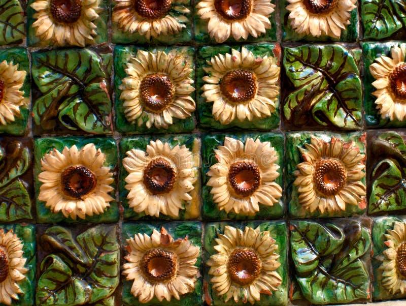 Zonnebloemen van gogh gaudy capricho royalty-vrije stock afbeelding