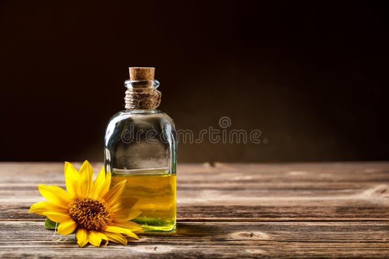 Zonnebloemolie stock fotografie