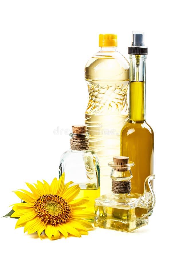 Zonnebloemolie stock foto