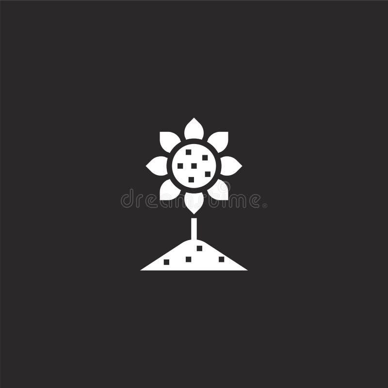 Zonnebloempictogram Gevuld zonnebloempictogram voor websiteontwerp en mobiel, app ontwikkeling zonnebloempictogram van gevulde la vector illustratie