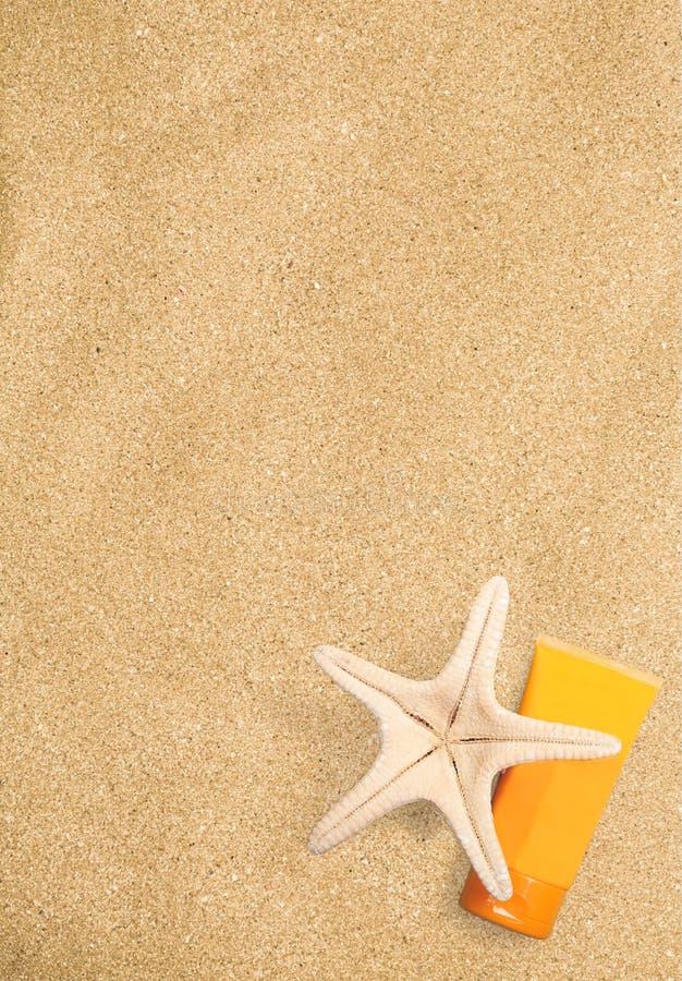 Zonnebrandolie stock afbeelding