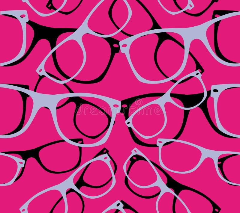 Zonnebril van patroon retro hipster vector illustratie