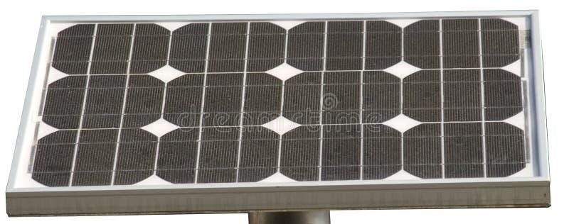 Zonnecellen met twaalf elementen stock foto