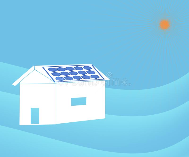 Zonnedakcomité en Zonne-energie stock illustratie
