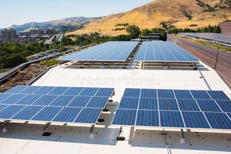 Zonnemacht in Salt Lake City, Utah stock afbeelding