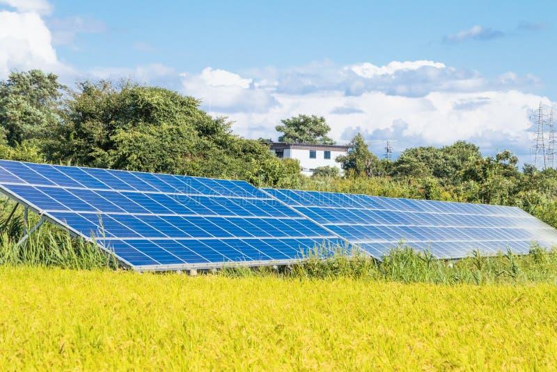 Download Zonnemachtspanelen Voor Innovatie Groene Energie Voor Het Leven Met M Stock Foto - Afbeelding bestaande uit blauw, groep: 107705570