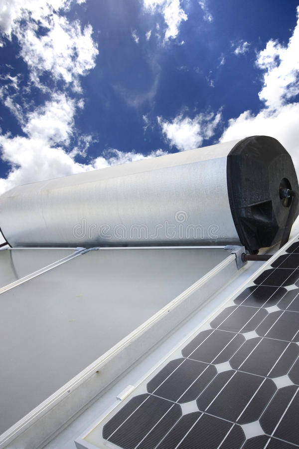 Zonnepaneel stock foto