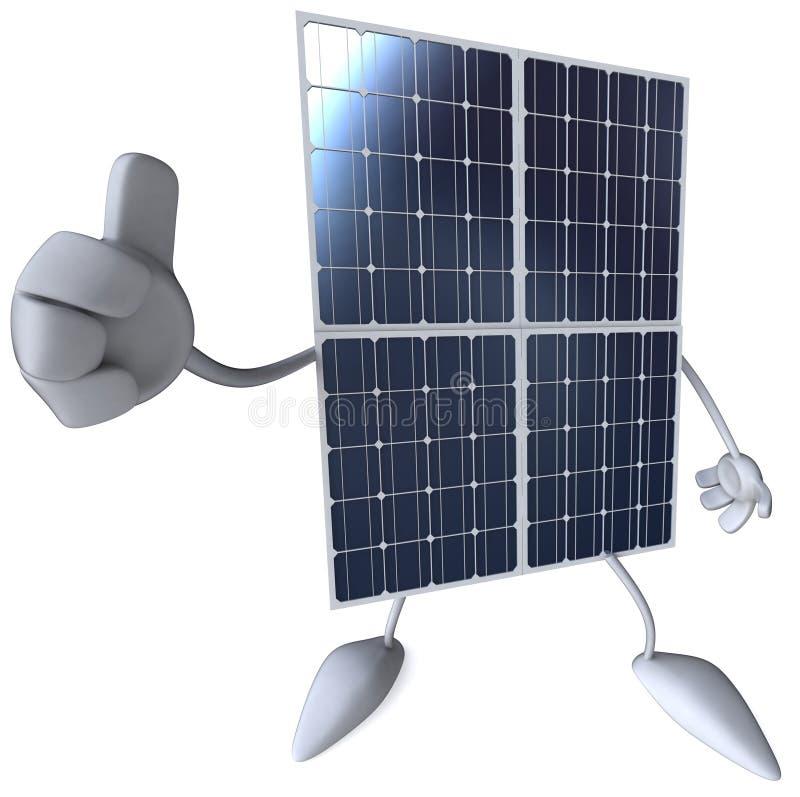 Zonnepaneel vector illustratie
