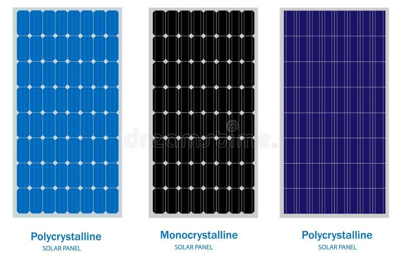 Zonnepaneel, groene energie en vernieuwbaar concept stock illustratie