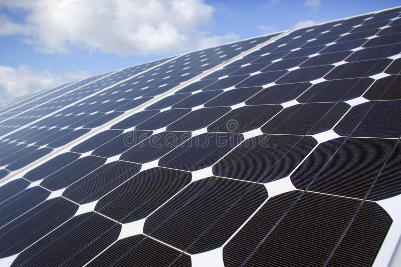 Download Zonnepanelen Stock Afbeelding - Afbeelding: 11550231