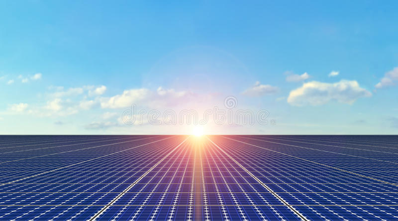 Zonnepanelen - Achtergrond stock afbeelding