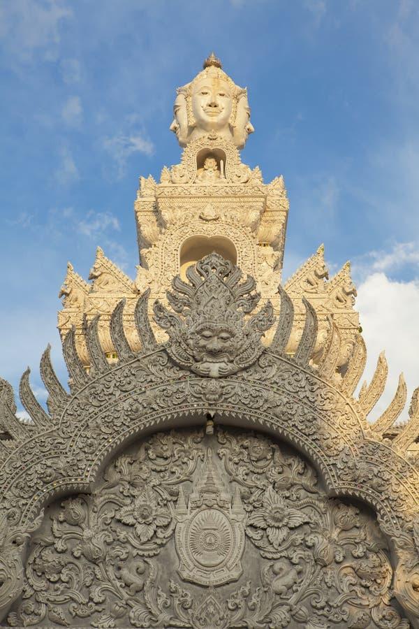 Zonneschijn op Citi-Pijlerheiligdom, Nan Province royalty-vrije stock afbeeldingen