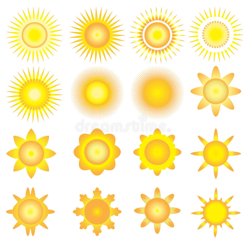 Zonneschijn vectorpictogram stock illustratie