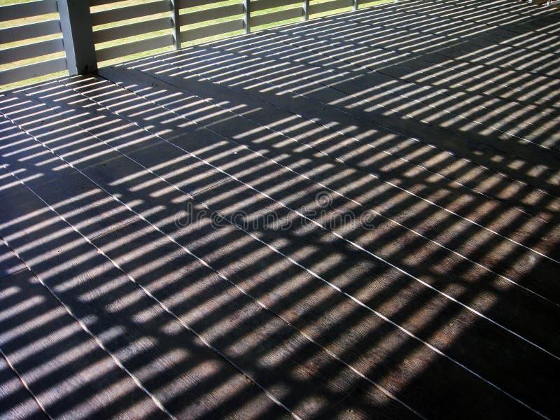 Zonneschijnterras, zonneschijnvloer royalty-vrije stock foto's
