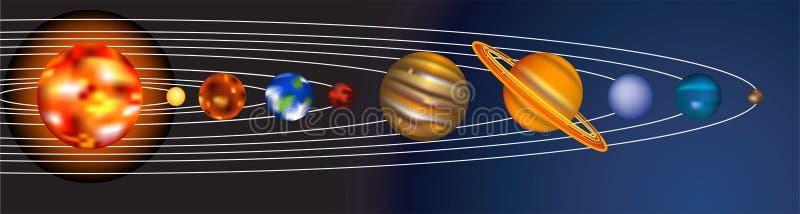 Zonnestelsel stock illustratie