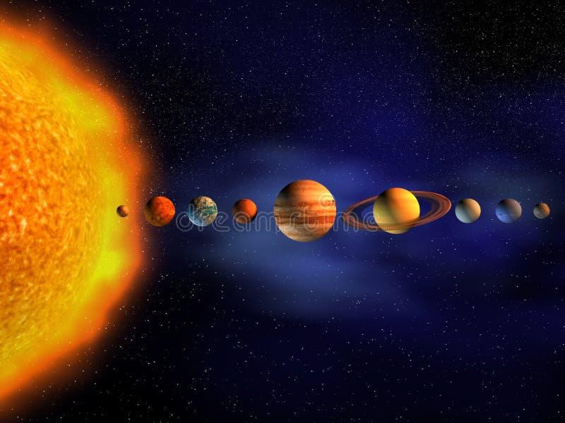 Zonnestelsel vector illustratie