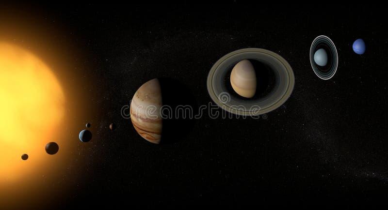 Zonnestelsel en planeten vector illustratie