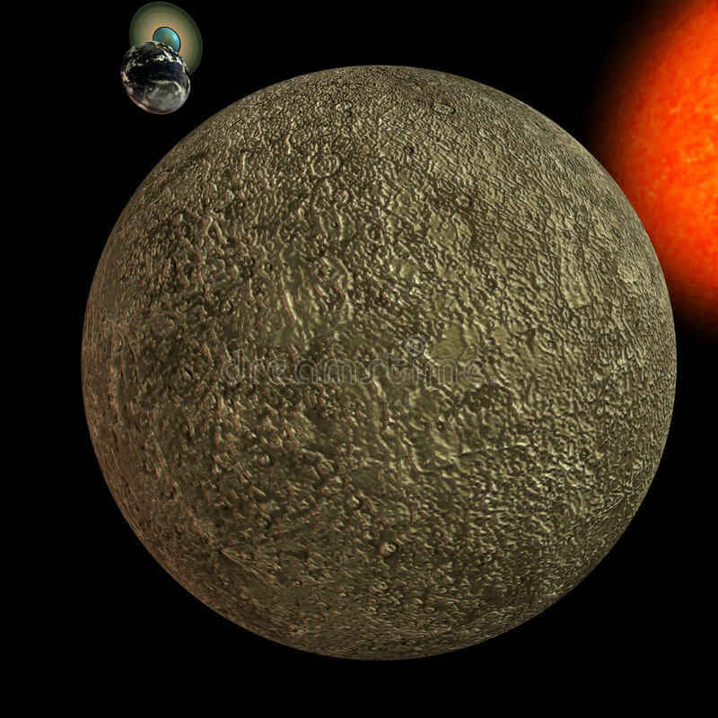 Zonnestelsel - Kwik stock illustratie