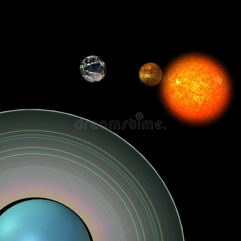 Zonnestelsel: Uranus royalty-vrije illustratie