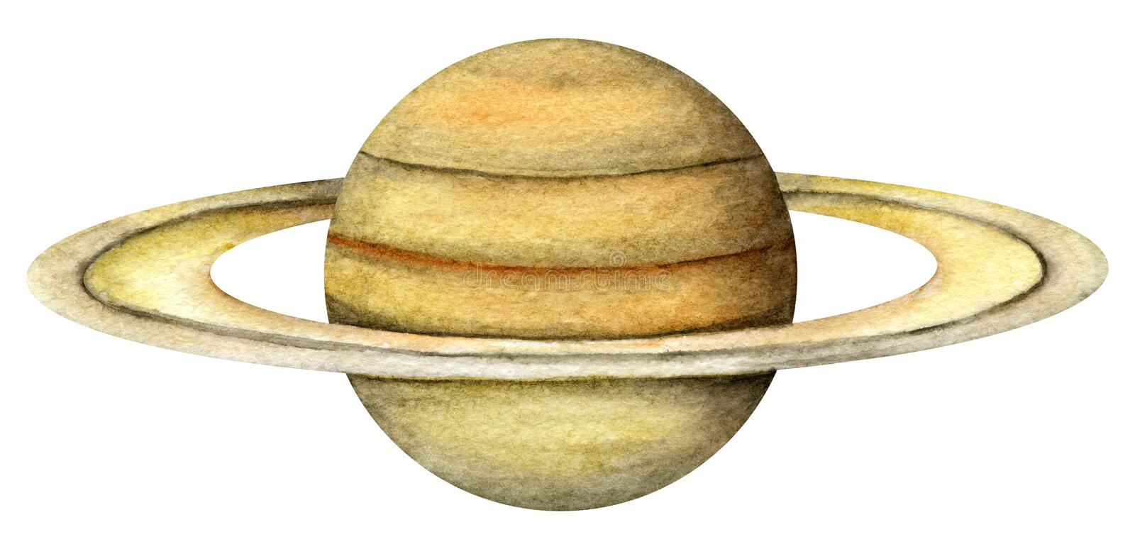 Zonnestelselplaneten - Saturn vector illustratie