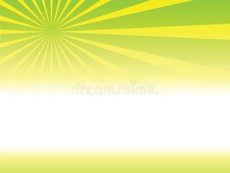 Zonnestralen stock illustratie