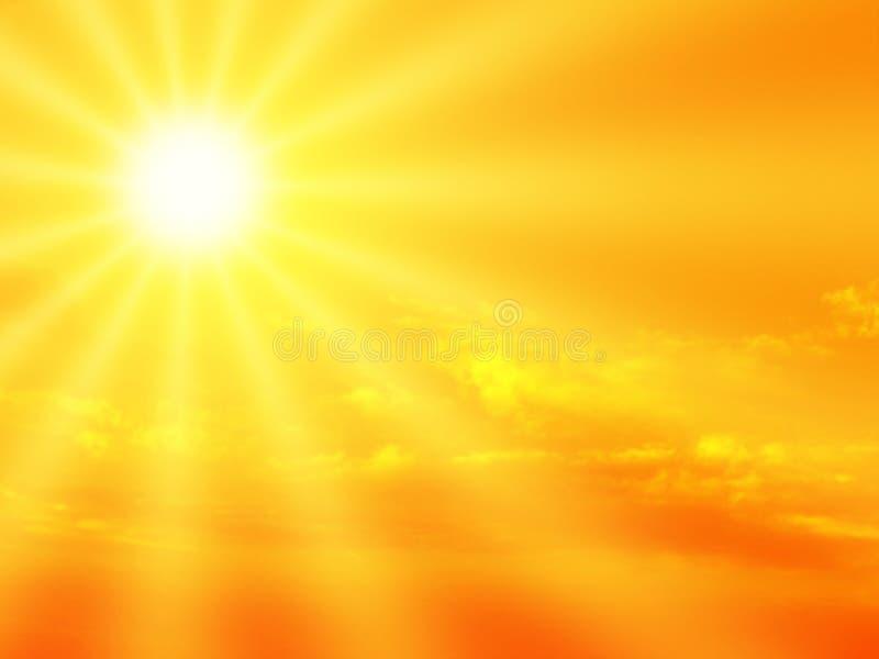 Zonnestralen vector illustratie