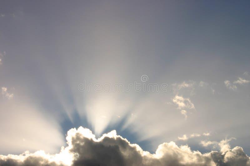 Zonnestralen stock fotografie