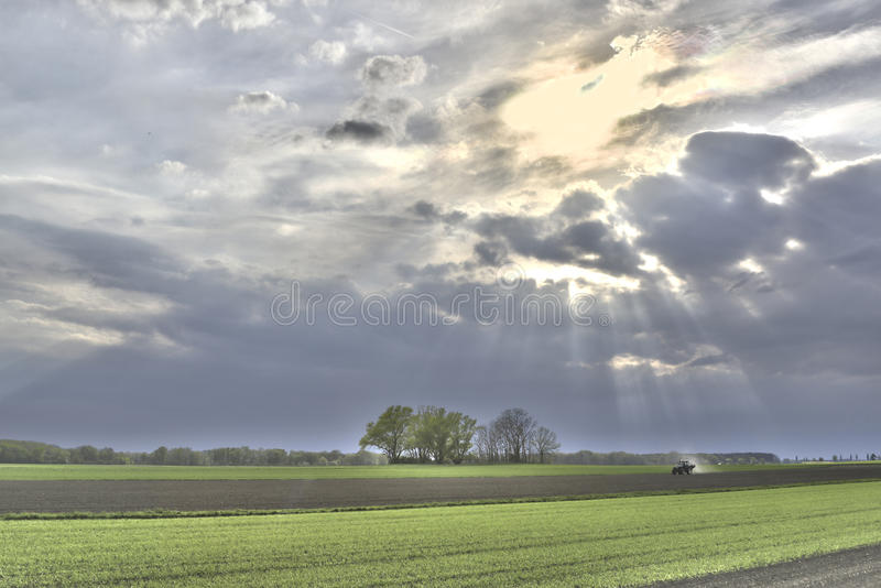 Zonnestralenland royalty-vrije stock fotografie