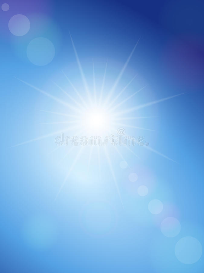 Zonnevlek en blauwe hemel royalty-vrije illustratie