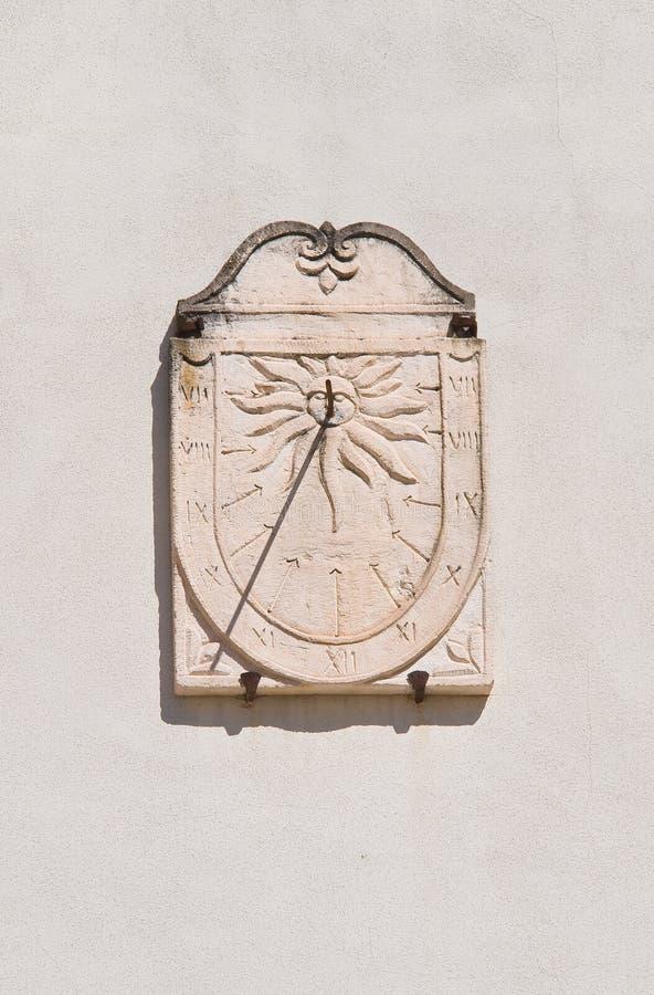 Zonnewijzer. Mottola. Puglia. Italië. royalty-vrije stock afbeeldingen