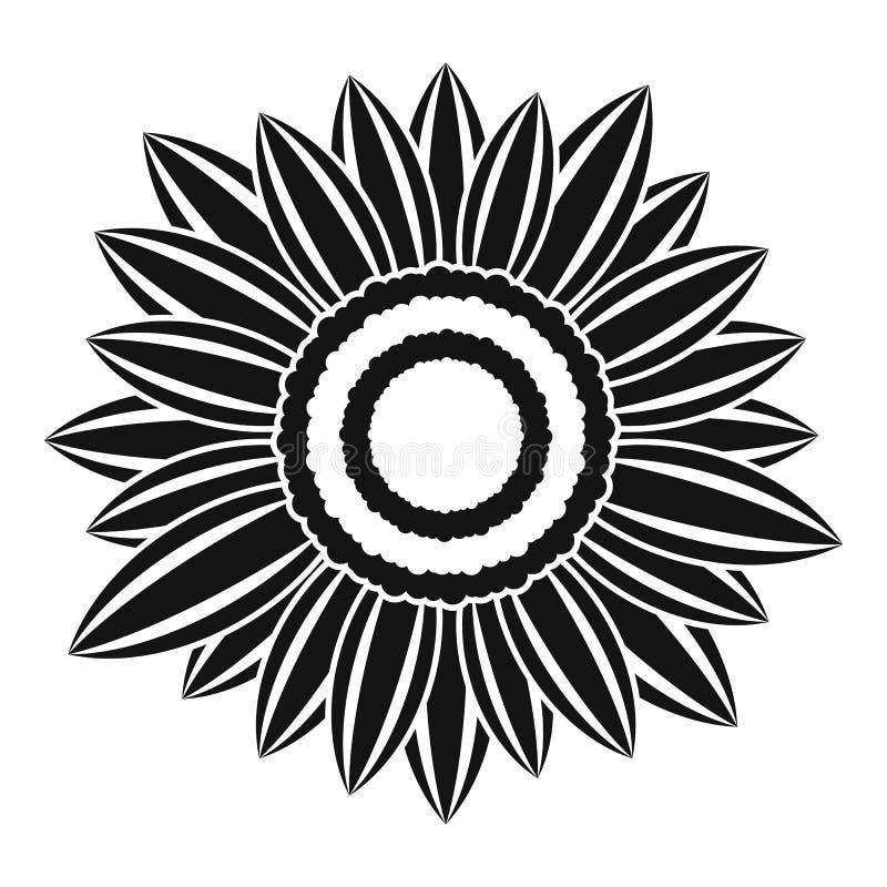 Zonnig installatiepictogram, eenvoudige stijl stock illustratie