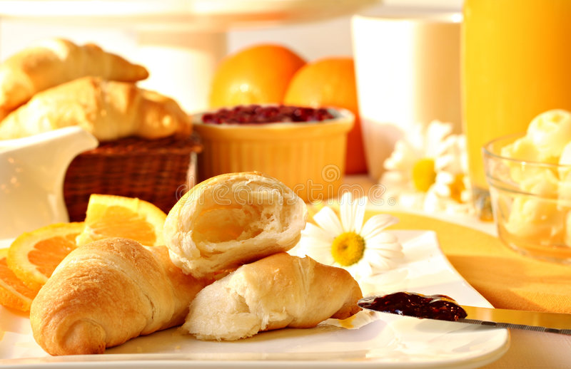 Zonnig ontbijt stock foto's