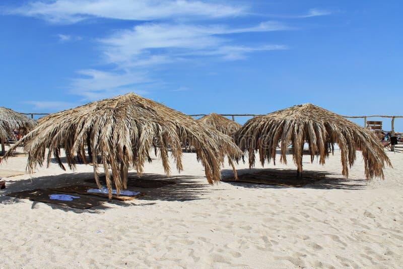 Zonnig strand royalty-vrije stock fotografie
