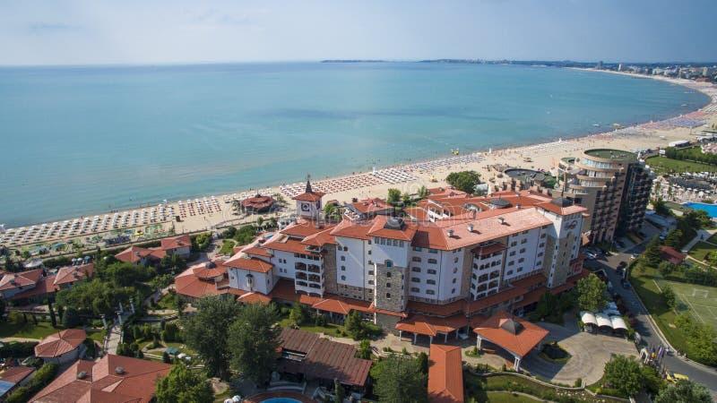Zonnig Strand, Bulgarije royalty-vrije stock afbeelding