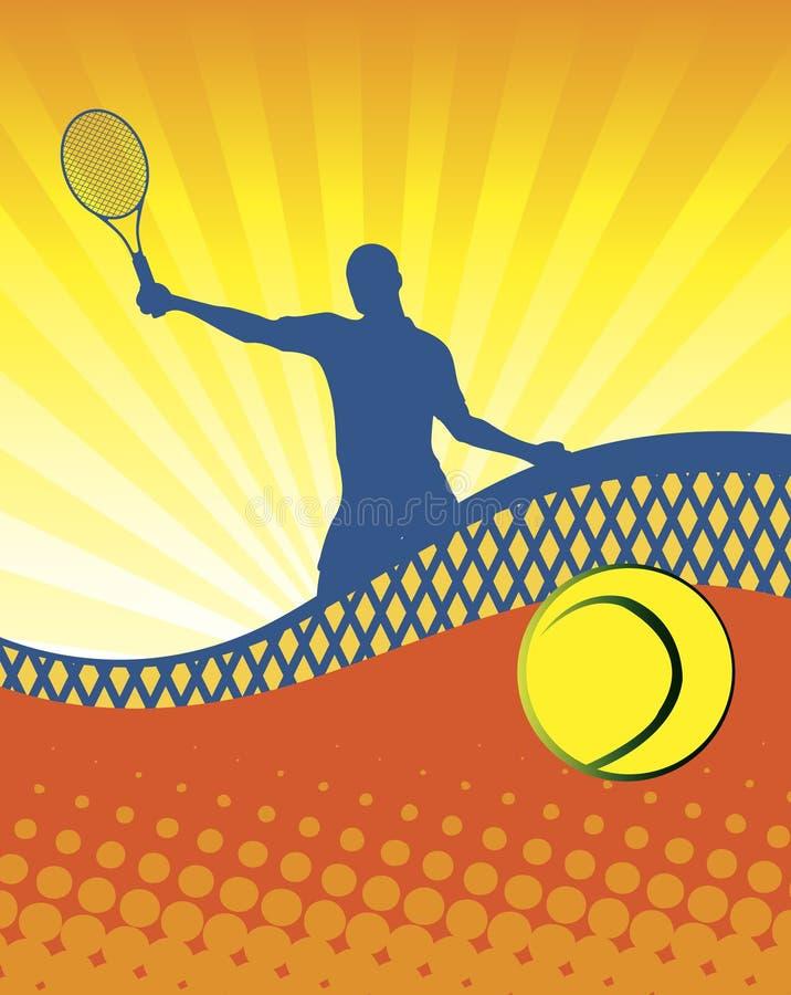 Zonnig tennis stock afbeelding