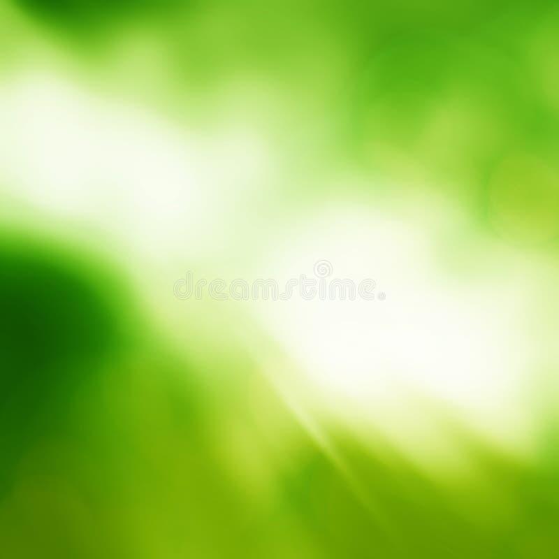 Zonnige abstracte groene aardachtergrond Verse aard royalty-vrije stock afbeeldingen