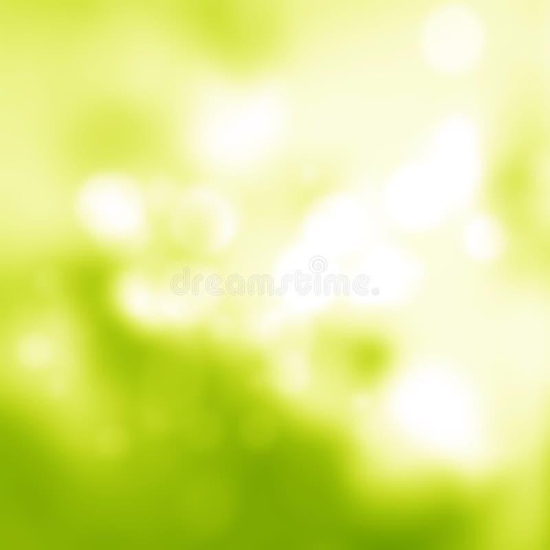 Zonnige abstracte groene aardachtergrond vector illustratie