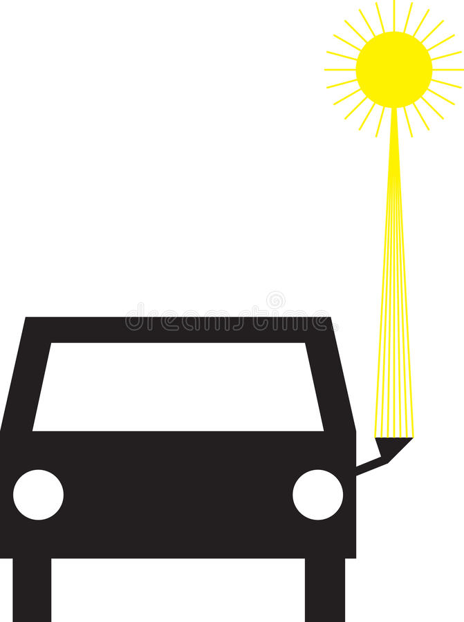 Zonnige auto stock illustratie