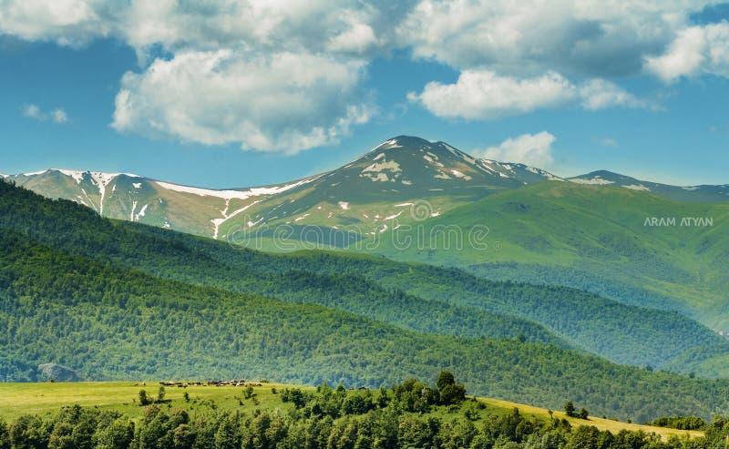 Zonnige dag in Armenië stock foto