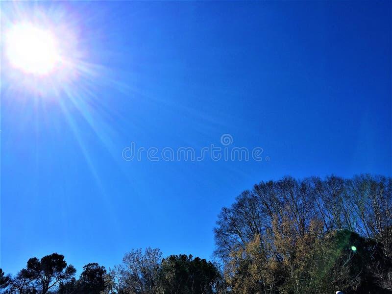 Zonnige dag in het technologische park van Cerdanyola del Valles stock foto